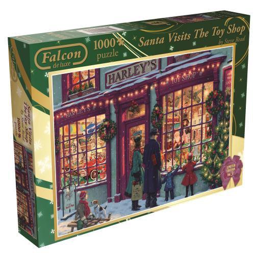 Falcon De Luxe de Santa visite le Puzzle Toy Shop Jigsaw (1000 pièces)