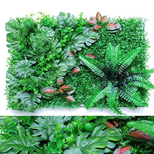 N/L Künstliches künstliches Efeublatt, 40 60CM künstliche künstliche Heckenpflanze für UV-Schutz im Innen- und Außenbereich, Zaun-Sichtschutz, Graswand, grüner Hintergrund, dunkelgrüner dekorativer