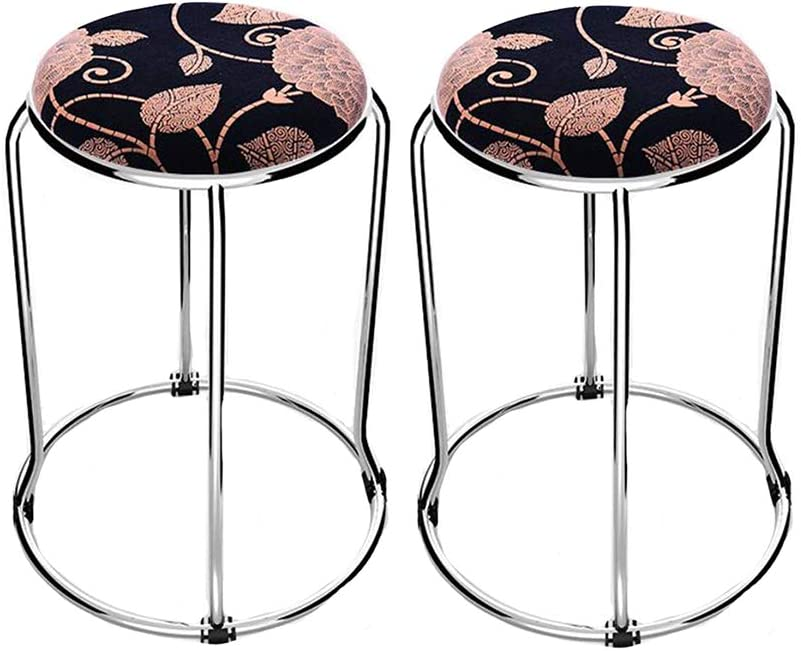 Dall Stack Stools Padded Seat Home Steel X Omaha Mall Durable 47 30cm Dcor Ultra-Cheap Deals