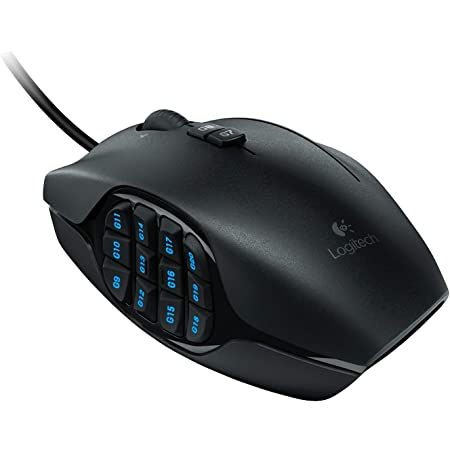 Logitech G600 MMO Gaming Mouse, RGB Backlit, 20 Programmable Buttons