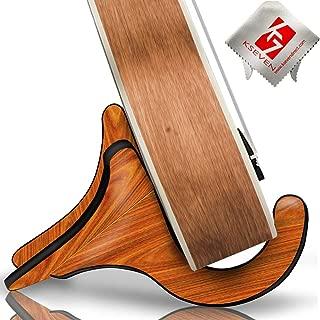 Ukulele Wood Stand, KSEV Detachable Y Shaped [Quality Hard Wooden Material] Instrument Kick Stand for Small Musical String Instrument Ukulele, Violin, Banjo & Guitar (1-Pack)