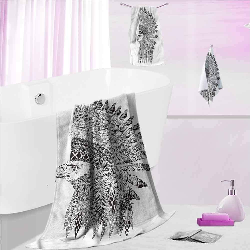 Latest item DayDayFun Patterned Bath Towel Sets Absorbent Raleigh Mall Highly Mach Tattoo
