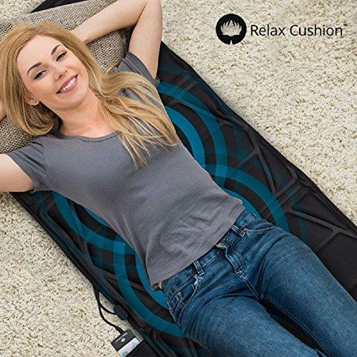 Relax Cushion IG104636 - Esterilla masajeadora corporal, color negro