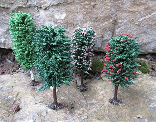 Original Jordan Bäume Sortiment mit Füßen 10-12cm 4er Set Top Qualität