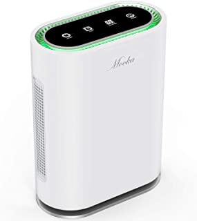 MOOKA True HEPA Air Purifier Up to 540 Sq.Ft, 6-Point Filteration, Large Room Odor Eliminator for Allergies and Pets, Ionic Air Cleaner & UV-C Sterilizer Eliminate Germs, Mold, Smoke for Home, Office