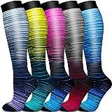Copper Compression Socks Women & Men Circulation - Best for Running, Nursing, Hiking, Recovery, Flight & Travel Socks