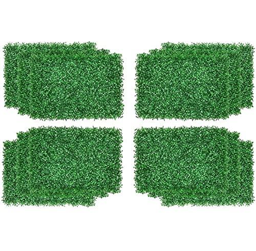 Plantas artificiales Paneles Artificiales de Betwood, Panel de vegetación Falso, Faux Boxwood Mats, Uso de interior al aire libre Cerca de jardín Cerca de jardín Decoración para el hogar Murallas de v