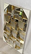 مرايا حائط ذهبي الون من انواع ديكور مراءة الجداري 90×60 لزينة ديكور المنزل