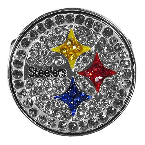 NFL Siskiyou Sports Womens Pittsburgh Steelers Crystal Ring One Size Team Color