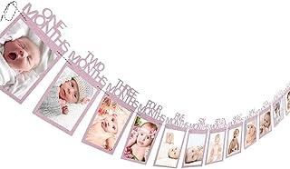 Blanc WINOMO My First Year b/éb/é Picture Frame 12/month photo frames Unique Baby cadeaux 41/x 20/cm