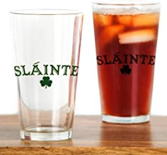 CafePress Slainte Toast To Your Health Pint Glass, 16 oz. Drinking Glass