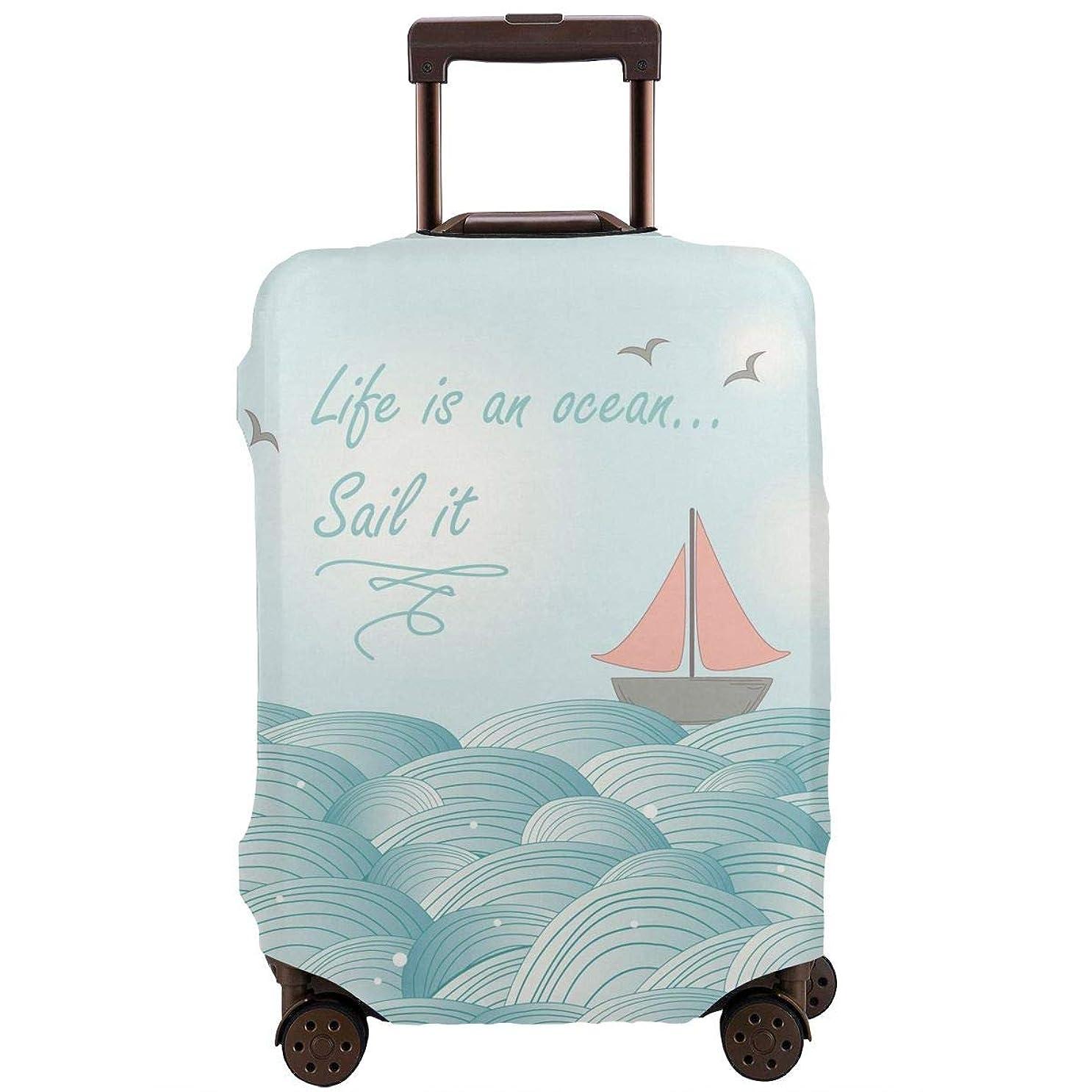 どのくらいの頻度でカフェ朝英文 海 船 絵画 スーツケースカバー 伸縮素材 保護 盗難防止 防塵 かわいい カバー キズから保護 洗える おしゃれ かわいい 人気 旅行 海外 便利 ジッパー