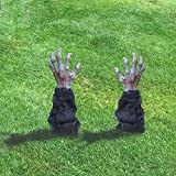 PIWFSDBG Realistic Zombie Arm Stakes Halloween Decorations, Horribly Zombie Arm Lawn Stakes,Halloween Decorations Outdoor for Spooky Lawn Yard Graveyard Ground, Haunted House, Coffin Party