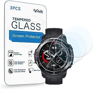 (3枚入り) Frgnie for Huawei Honor GS Pro スクリーン保護フィルム, 9H 強化 ガラス 保護フィルム 対応 Honor GS Pro Smartwatch スマート腕時計