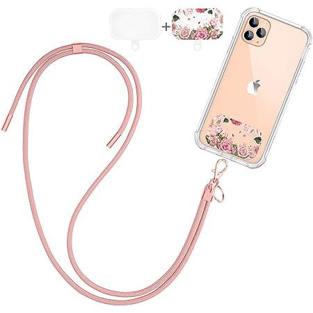 Dracool Handykette Universal Schlüsselband Umhängeband Halsband zum Umhängen Nylon Kompatibel mit iPhone 13 12 11 Pro Max 7 8 X XR Samsung Huawei Xiaomi und Mehr Smartphone - Rose Gold