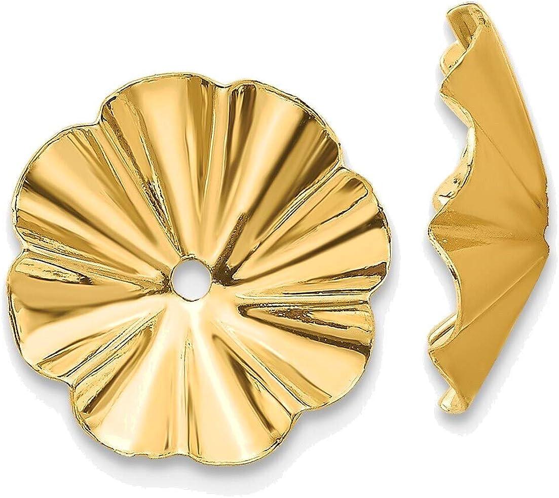 Polished Fancy Earring Jackets in 14K Yellow Gold