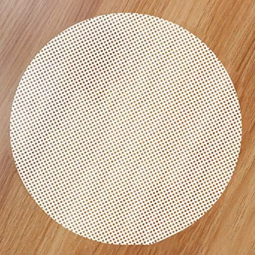 FISOUL Silikon-Dampfmatte, wiederverwendbar, antihaftbeschichtetes Dampfgarer-Mesh, runde Knödelmatte
