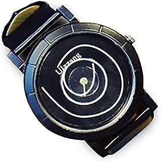 ZooooM ユニーク 渦 巻き デザイン 文字盤 アナログ ウォッチ 腕 時計 ファッション アクセサリー おもしろ カジュアル メンズ レディース 男性 女性 男 女 兼 用 (ブラック ブラック) ZM-WATCH2-926-BKBK