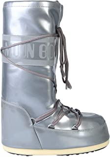 MOON BOOT Luxury Fashion Womens 140214004 Silver Boots | Fall Winter 19
