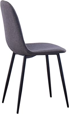 IDS Online Dining Chair Set (6 Piece), For 6 People, Contemporary Black