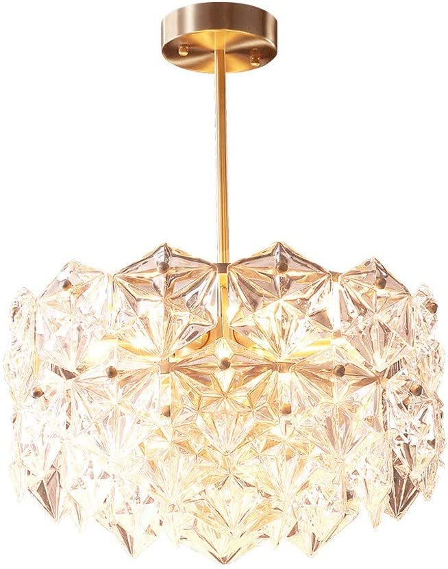 zlw-shop Chandelier Copper online shopping Crystal Bedroo Living Limited time sale Room