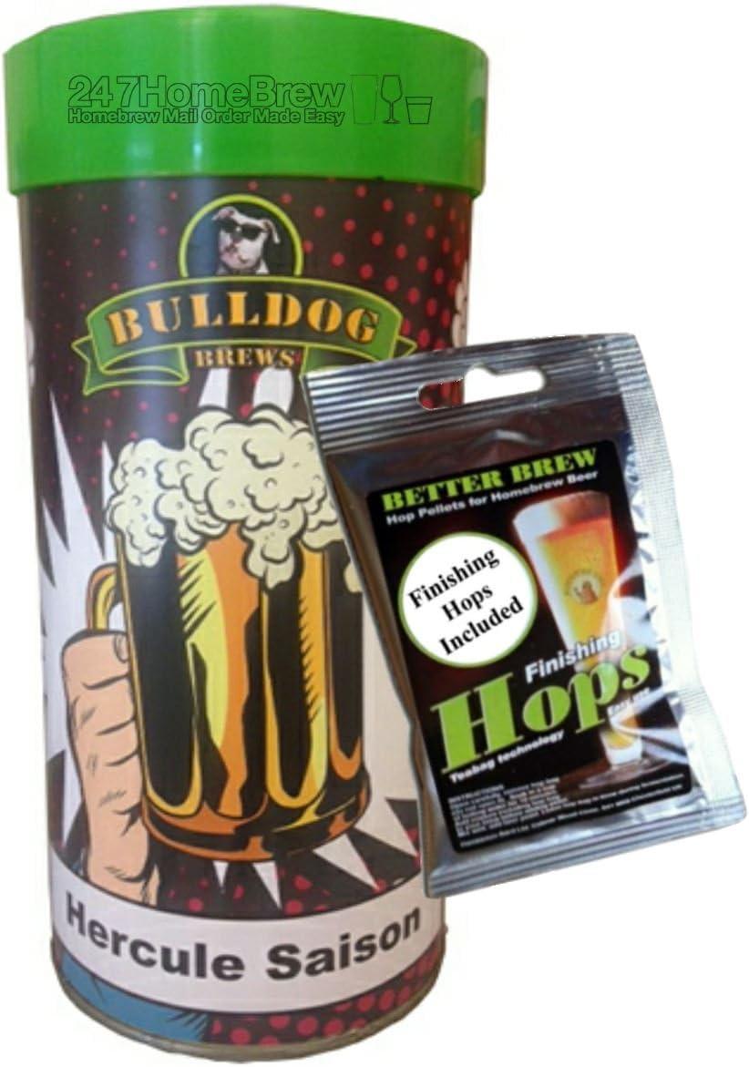 Bulldog Brews Hercule Saison con lúpulo de acabado hace 23 L/5 galones 4,7% ABV