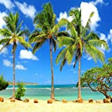 GladsBuy Tropical Beach 10' x 10' Computer Printed Photography Backdrop Nature Theme Background ZJZ-866