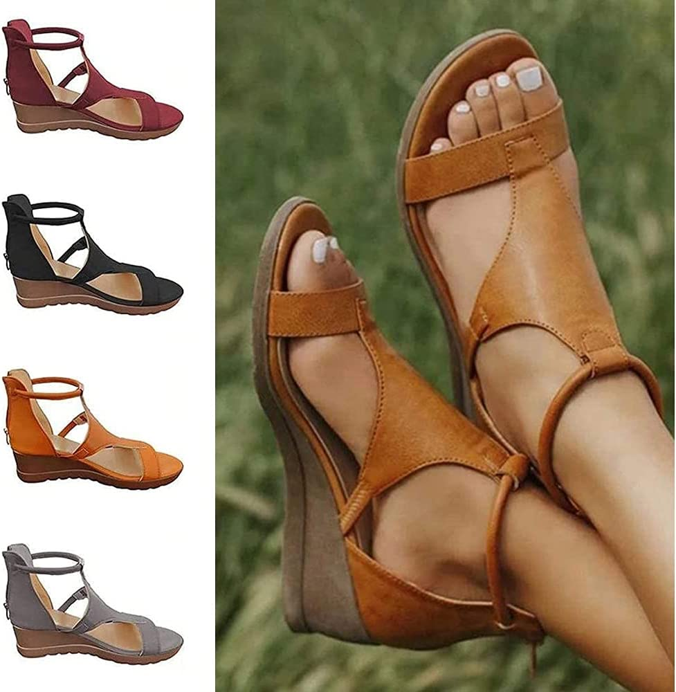 BAIYAN Selling Sexy Women's Open Max 45% OFF Toe Wed T-Strap Chunky Sandals Platform