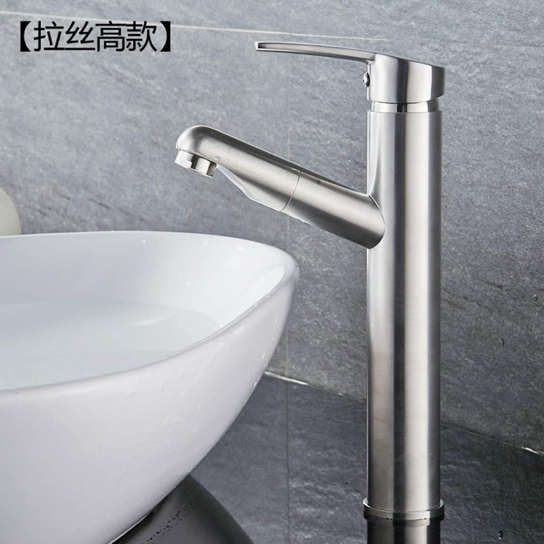 Kitchen & Bath Fixtures Taps Faucet,Copper Pulling Basin Faucet Painted Retractable Bathroom Bathroom Washbasin Faucet, B
