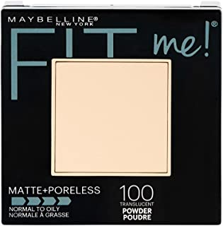 Maybelline New York Fit Me Matte + Poreless Powder Makeup, Translucent, 0.29 oz.