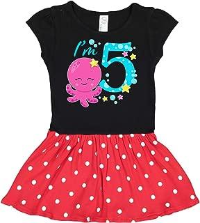Inktastic I'm Five- Cute Octopus Birthday Toddler Dress