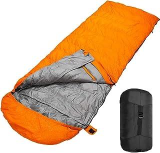 SILIVN シュラフ キャンプ コンパクト 寝袋 冬用 ダウン シュラフ 丸洗い 冬 連結可 封筒型 400T防水