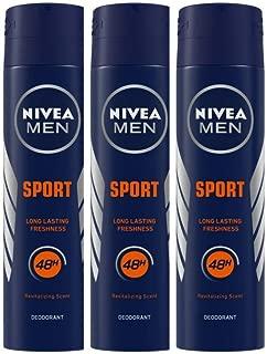 Nivea Men Sport Deodorant, 150 ml (Pack of 3)