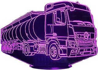 MER. petroliera,Lampada illusione 3D con LED - 7 colori.