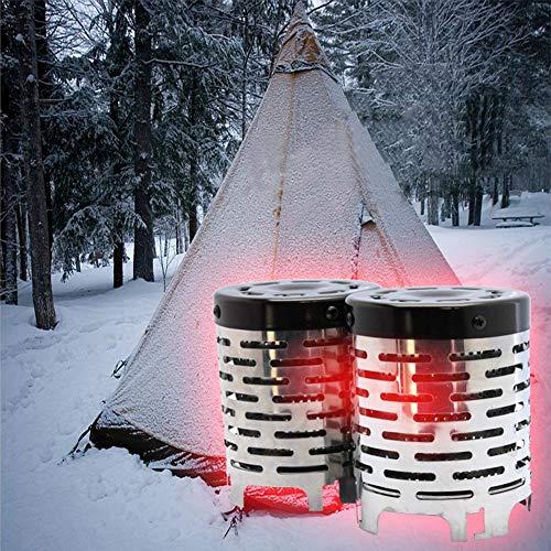 Funihut Calentador de Estufa Acero Inoxidable portátil para Camping al Aire Libre, Viajes, Camping, Pesca, Tienda de campaña de calefacción, herramient