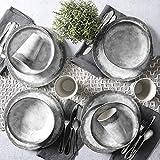Gibson Soho Matte Plastic Melamine Dinnerware Set 16 Piece Mint