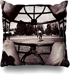 Throw Pillow Covers Baseball Catcher Mask View by Barney Stei Pillowslip Square Sofa Cute 18 x 18 Inches Cushion Cases Pillowcases