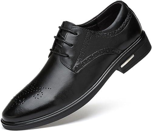 Les hommes les chaussures en cuir, sculpté, british wind, jeunesse tie ups, chaussures en cuir,noir,trente - neuf