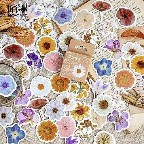 BLOUR 46 unids/Lote Flor poesía Kawaii Pegatina decoración DIY Scrapbooking Pegatinas papelería Linda Etiqueta de Diario