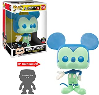 "Funko Pop Mickey Mouse Blue/Green 10"" Ten Inch Shop Exclusive Disney Rare"