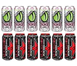 LUV BOX- variety Energy drink 16 oz. pack of 12 , VENOM LOW CALORIE WATERMELON LIME ENERGY DRINK , Rockstar Punched .#N