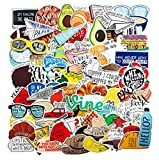 ZJJHX Color Art Vines Equipaje Trolley Case Laptop Refrigerator Skateboard Sticker Waterproof 67 Sheets/Set