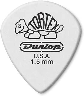 Dunlop 498P1.5 Tortex Jazz III XL, White, 1.5mm, 12/Player's Pack