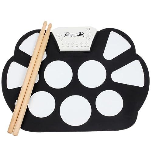 Sannysis® PC portátil USB de Escritorio Niños Roll Up Electronic Digital Drum Kit Pie Juguete