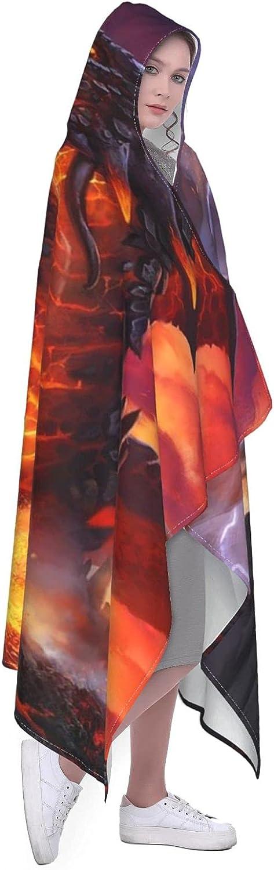 Dragon Hooded Blanket Super Soft Max 73% OFF Wrap Cape Hoodie Popular standard Warm