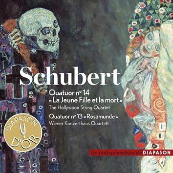 """Schubert: Quatuor No. 14 """"La Jeune Fille et la mort"""" & Quatuor No. 13 """"Rosamunde"""" (Les indispensables de Diapason)"""