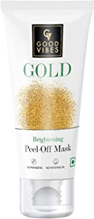 Good Vibes Gold Brightening Peel Off Mask, 50 g Deep Pore Cleansing Peel-Off Face Mask For All Skin Types, No Parabens & M...