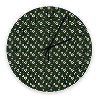 掛け時計 クリスマス 壁掛け時計 掛時計 静音 clock サイレント 壁時計 部屋 リビング 玄関 インテリア コンパクトサイズ 電池式 木掛け鐘 大数字 円形 贈り物 直径 30cm