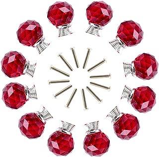 red glass kitchen cabinet knobs