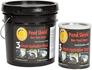 Pond Armor SKU-CLEAR-3GA Non-Toxic Pond Shield Epoxy Paint, 3-Gallon, Clear